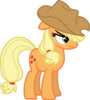 Applejack is not amused (vector) by davidsfire