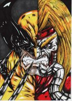 wolverine-omega-red colour by darkartistdomain