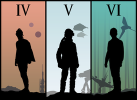 Evolution of Luke Skywalker - Star Wars Vector by firedragonmatty