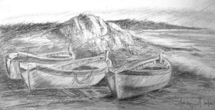boats sketch by augustosoares