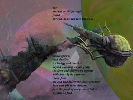 the passage: a haiga by deinktvis
