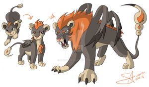 Fake Litleo Evolution Line by GJKou