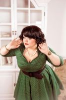 My pin up style plussize 2014 by Matsu-Sotome