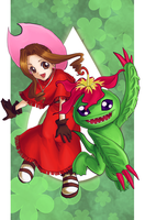 The One from My Childhood : Mimi and Palmon by ForeverMedhok