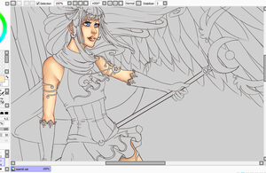 Asariel WIP by Kairorian