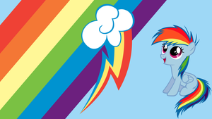 - Rainbow Dash Filly Wallpaper - by Ponyphile