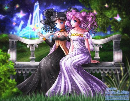 Commission: Nehelenia and Sakura by galia-and-kitty