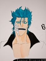 grimmjow on the wall by Hollowinme