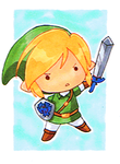 Chibi Link Sketchcard by MorphineRx