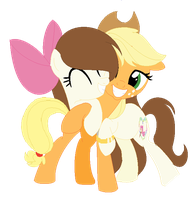 Apple Jack n Katie :3 by cutecutederpypony14