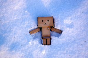 Danbo in the snow. by BadgerJames