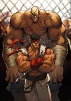 FIGHT street fighter sagat by deffectx
