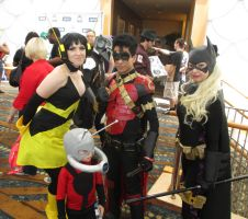 Wasp Antman Robin and Batgirl by GreekGodess07