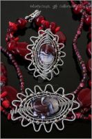 Coral garden - Wire wrapped set by Faeriedivine