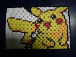 Pikachu Perler Wall Art by blargofdoom