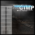 Barbed Wire And Metal Fence by FrostBo