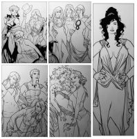 Inks for Adam Hughes Recreation by RichardCox