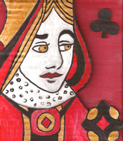 Queen of Clubs by CarrieExMachina