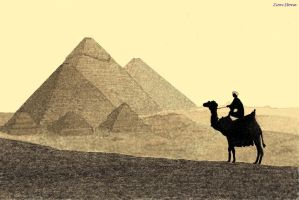 Egyptian pyramids by ZionStone00