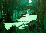 Night of full moon (In the forest) by HelaLe