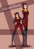 Ikki and Jinora by Nyxilles