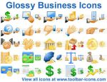 Glossy Business Icons by Ikonod