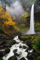 Elowah Falls, Autumn 2012 by greglief