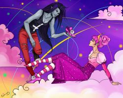 Marceline/Princess Bubblegum by Rukinda