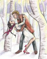 Katniss and Peeta by coleslawari