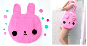 Pink Bunny Tote by CosmiCosmos