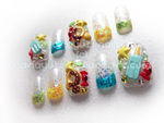 sweet kingdom hearts nails by Nanayuki