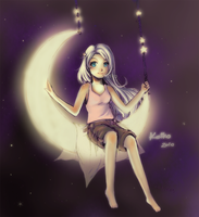 Moon and Stars Swing by KawaKeiko