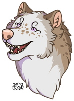 Oink headshot commission by CreatureCreatingBabe
