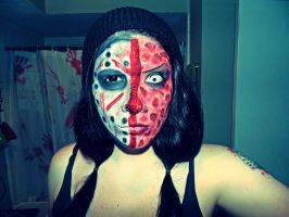 Two-Faced Inspired Freddy and Jason Make-Up by AshVonHorror