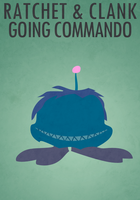 Ratchet and Clank Going Commando minimalist poster by anarchemitis