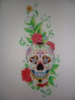 Traditional Mexican Skull by petrop92