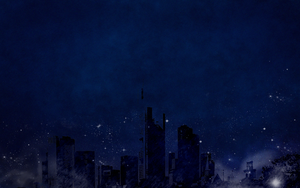 Blue night city by shera00