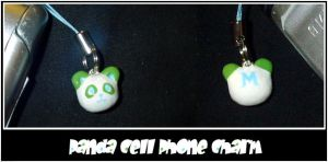 Panda Cell Phone Charm by YellerCrakka