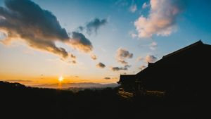 Sunset over Kyoto by Irreality