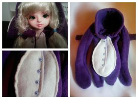 Purple Bunny YoSD Kigurumi by Dolly-Lover