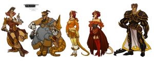 Pirates important characters by Deniya