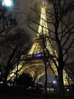 The Eiffel Tower on a winter's night by KaLa89