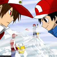 Red Vs Ash by morganfire