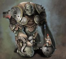 Dwarfen War-Bigfoot by Davver