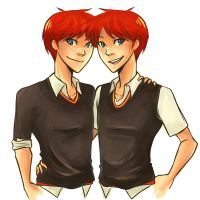 HP: Gred and Feorge by yoake-mae