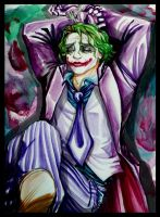 Joker: Basking in Cuffs by loonylucifer