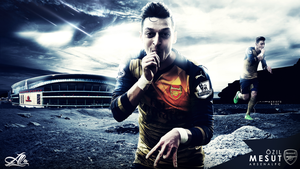 Mesut Ozil 15-2016 wallpaper by designer-alateewish