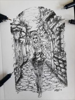 Inktober16 . Old City Hippie by roobosaur98