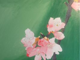 Cherry Blossom painting(finished) by Teirra-Misaki