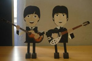 Paper Model Nets PDF - Lennon McCartney by akeel465
